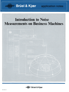Application notes - Introduction to Noise Measurements on Business