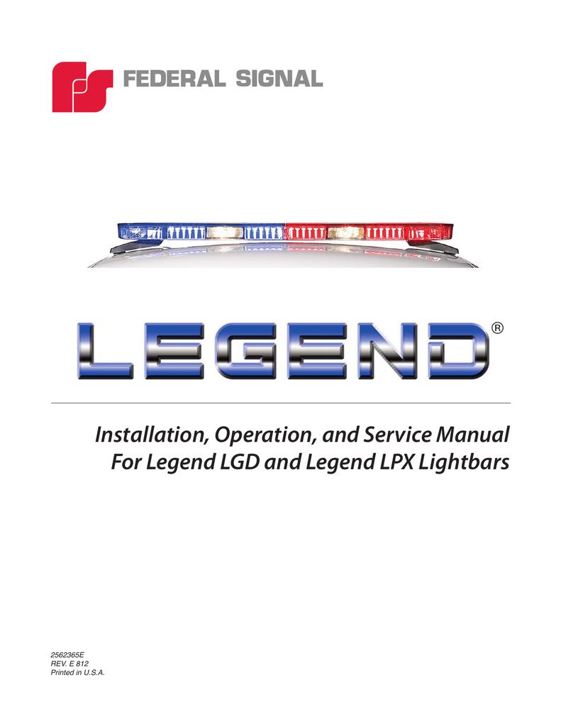 Legend Installation Manual on