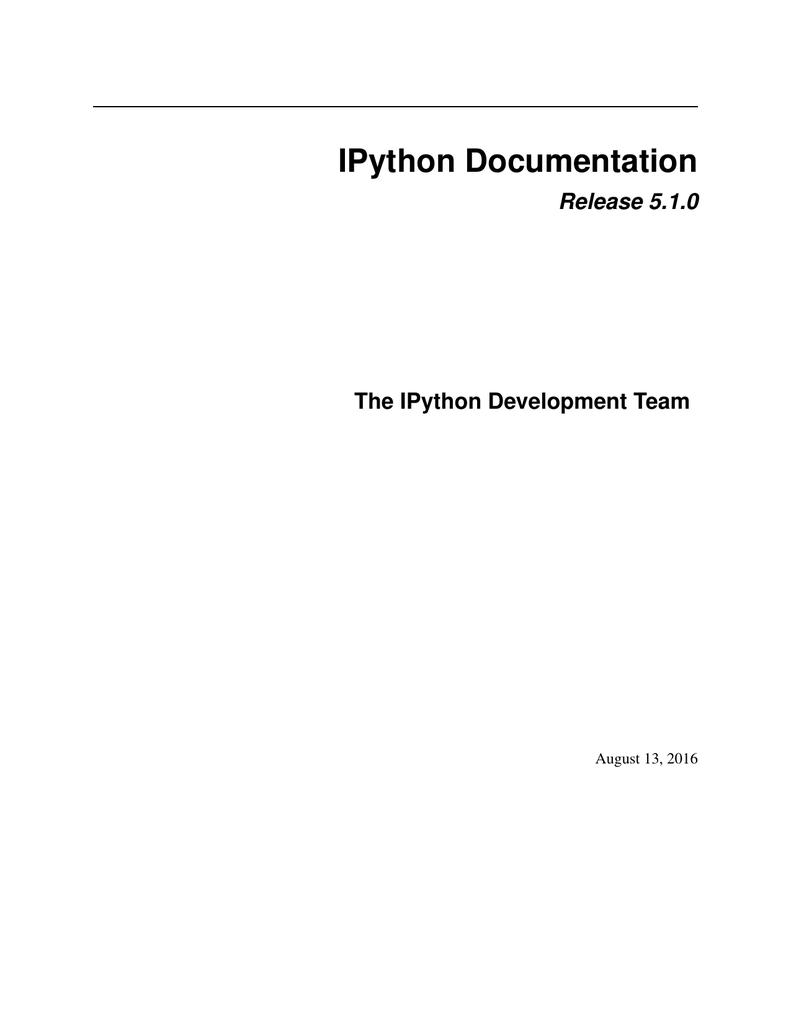 Ipython Documentation Divider Indexes 2721
