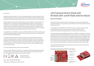 24V Protected Switch Shield with BTT6030-2EKA and