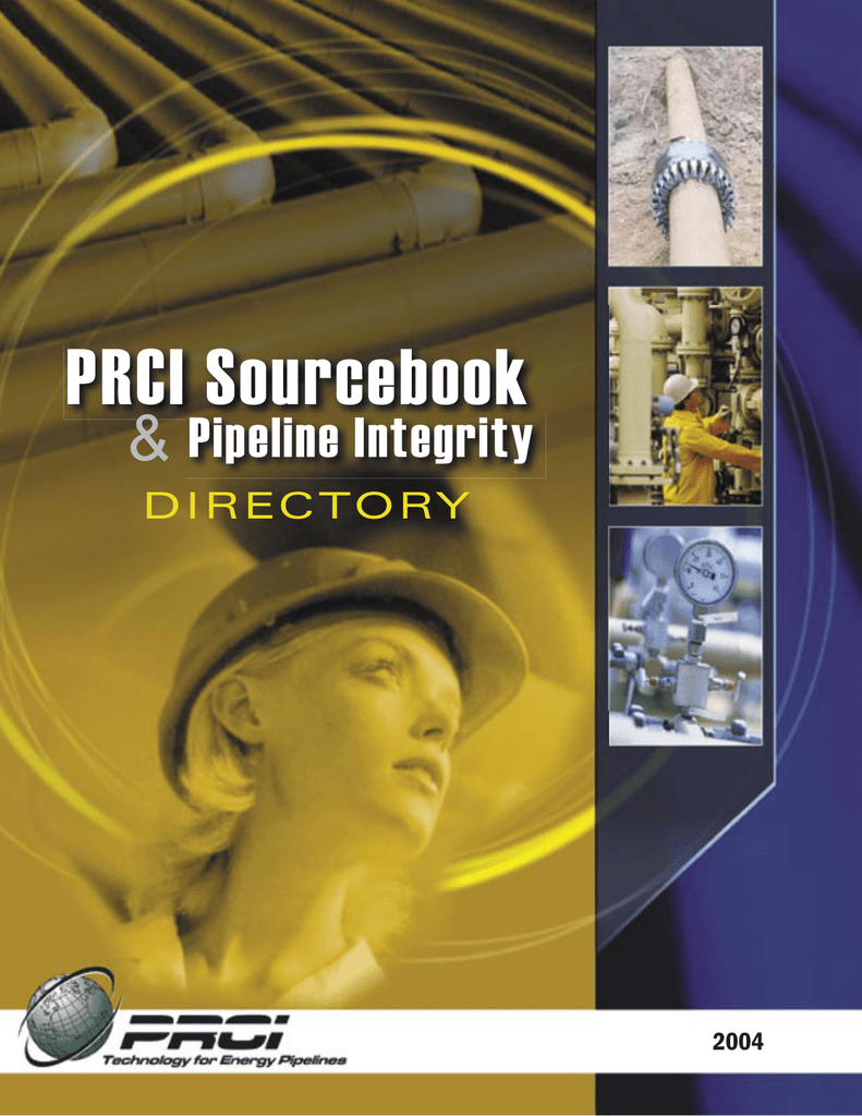 PRCI Sourcebook and Pipeline Integrity Directory