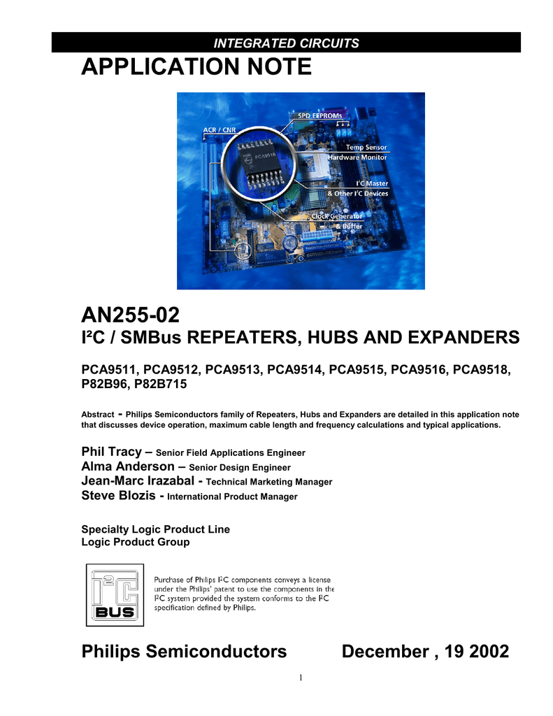 I2C/SMBus repeaters, hubs and expanders