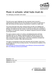 Music in schools: what hubs must do