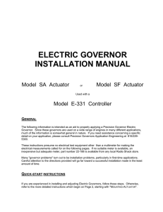 electric governor installation manual