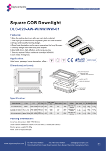 Square COB Downlight