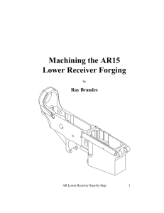 Machining the AR15 Lower Receiver Forging