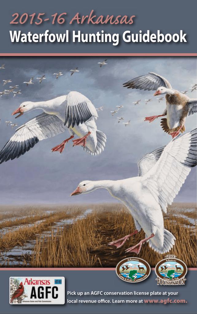 2015-16 Arkansas Waterfowl Hunting Guidebook