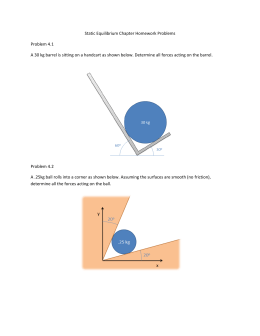 Static Equilibrium Homework Problems