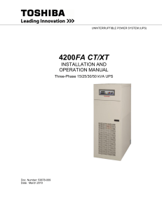 4200FA CT 15-50kVA Guide Specifications