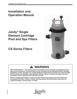 jandy acirc reg pro series valve actuator installation and operation manual jandyacircreg single element cartridge