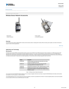 Wireless Sensor Network Accessories - Data Sheet