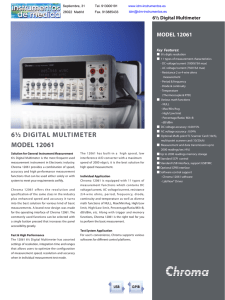 6½ DIGITAL MULTIMETER MODEL 12061