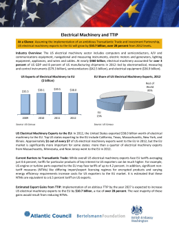Electrical Machinery and TTIP