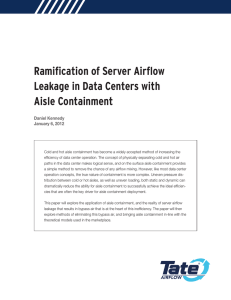 Ramification of Server Airflow Leakage in Data Centers with Aisle