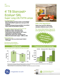 4` T8 Starcoat® Ecolux® SXL Super Long Life F32T8