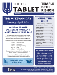 The TBR - Temple Beth Rishon