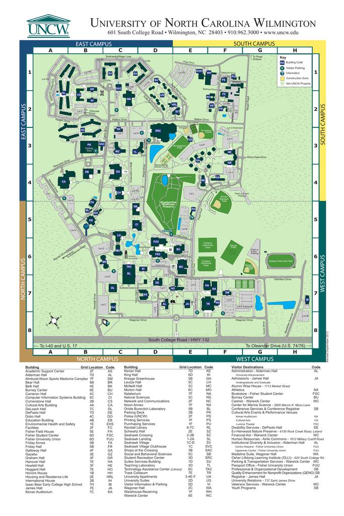 Campus Map - University of North Carolina Wilmington on au campus map, ul campus map, ou campus map, ui campus map, ur campus map, uc campus map, uk campus map, cf campus map, wb campus map, um campus map, ge campus map, se campus map, uo campus map, uw campus map, ms campus map, du campus map, ut campus map, st campus map, fh campus map, qu campus map,