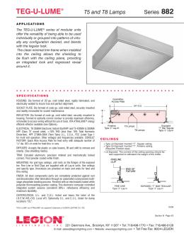 882 Series Teg-U-Lume  sc 1 st  studylib.net & EXCELON® - Legion Lighting azcodes.com