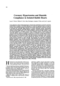 Coronary Hypertension and Diastolic Compliance in Isolated Rabbit