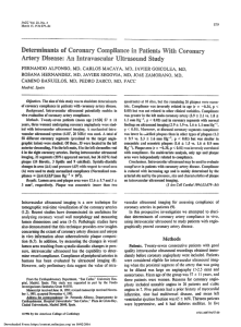 Determinants of coronary compliance in patients with coronary