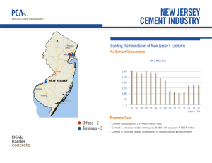 new jersey cement industry - The Portland Cement Association