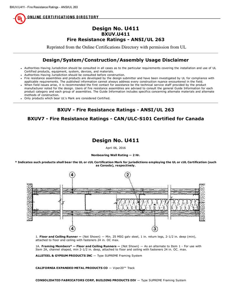 UL Design U411