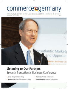 Complete fifth issue - American Chamber of Commerce in Germany