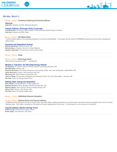 CERAWeek 2014 Agenda at a Glance