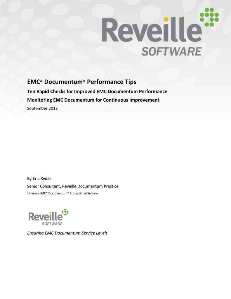 EMC Documentum Performance Tips
