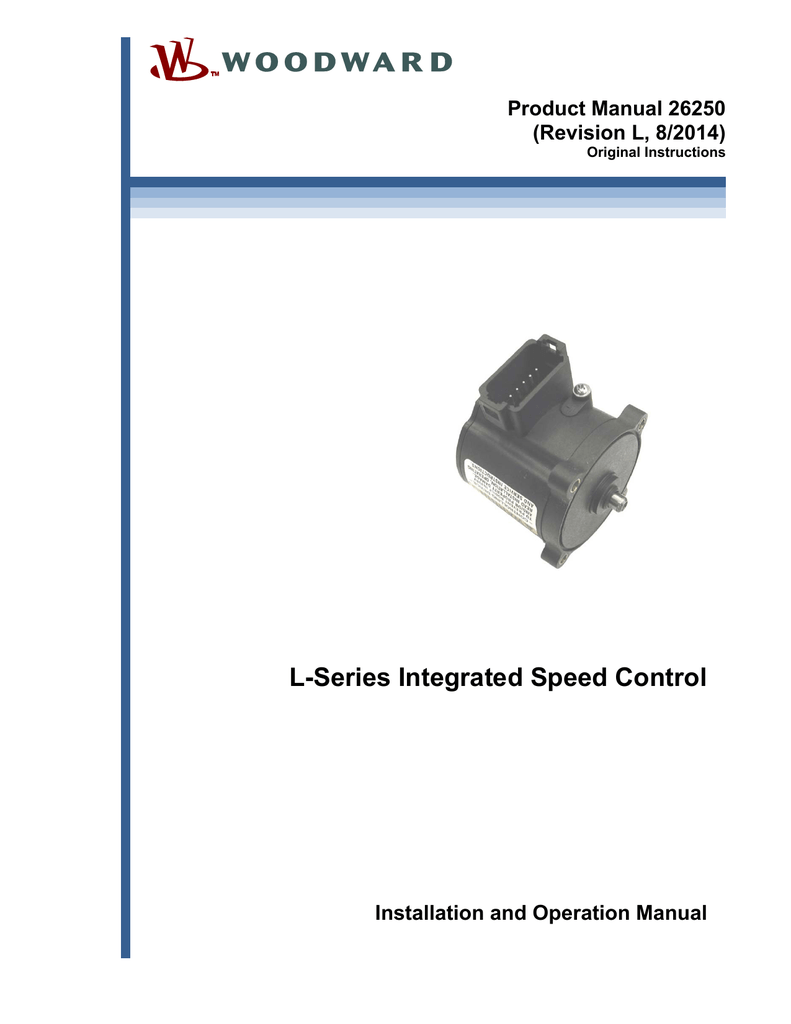 L-Series Integrated Speed Control