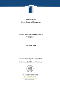 MS Dissertation Human Resource Management