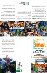 September 17, 2016 - Energy for Life Walks