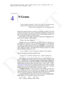 N-Gram Model Formulas  • Word sequences