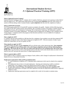 Optional Practical Training Application