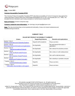 Section 508 evaluation template for Voluntary product accessibility template section 508