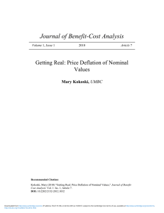 Getting Real: Price Deflation of Nominal Values