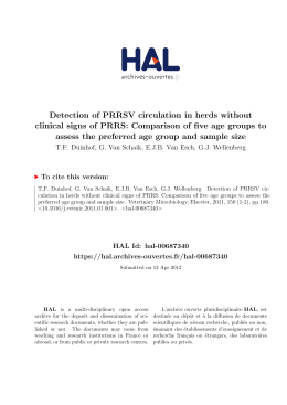 Detection of PRRSV circulation in herds without clinical signs