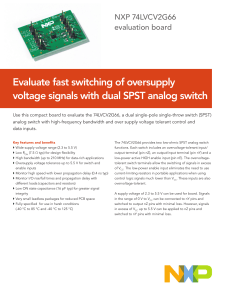 Evaluate fast switching of oversupply voltage signals with dual SPST
