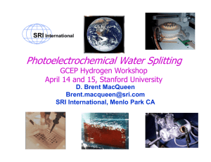 Photoelectrochemical - Stanford University