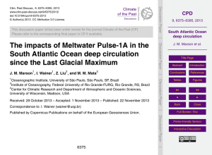 South Atlantic Ocean deep circulation