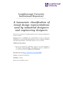 A Taxonomic Classification of Visual Design Representati