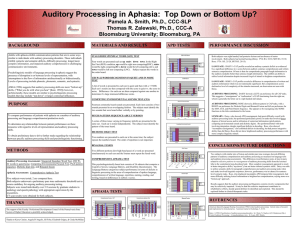 Auditory Processing in Aphasia: Top Down or Bottom Up?