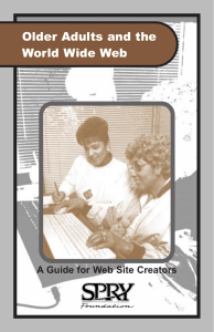 Older Adults and the World Wide Web A Guide for Web Site Creators