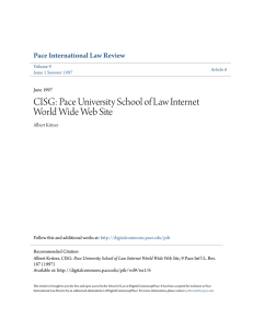 CISG: Pace University School of Law Internet World Wide Web Site