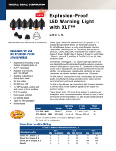 Explosion-Proof LED Warning Light with XLT™