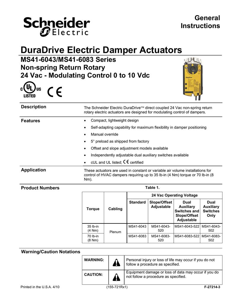 MS41-6043/MS41-6083 DuraDrive Non