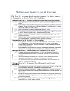 ARC Goals and Objectives and NC Strategies