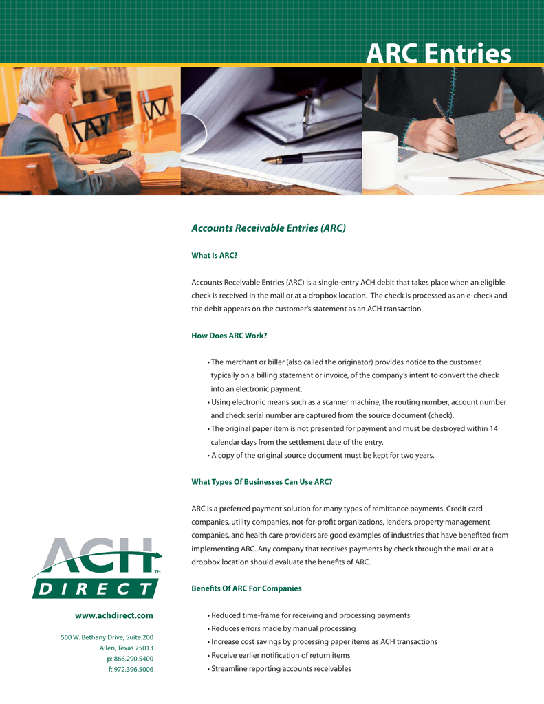 ARC - ACH Direct