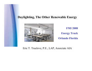 Daylighting, The Other Renewable Energy