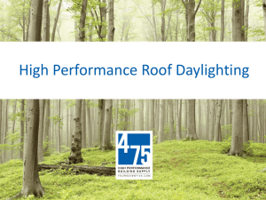 High Performance Roof Daylighting
